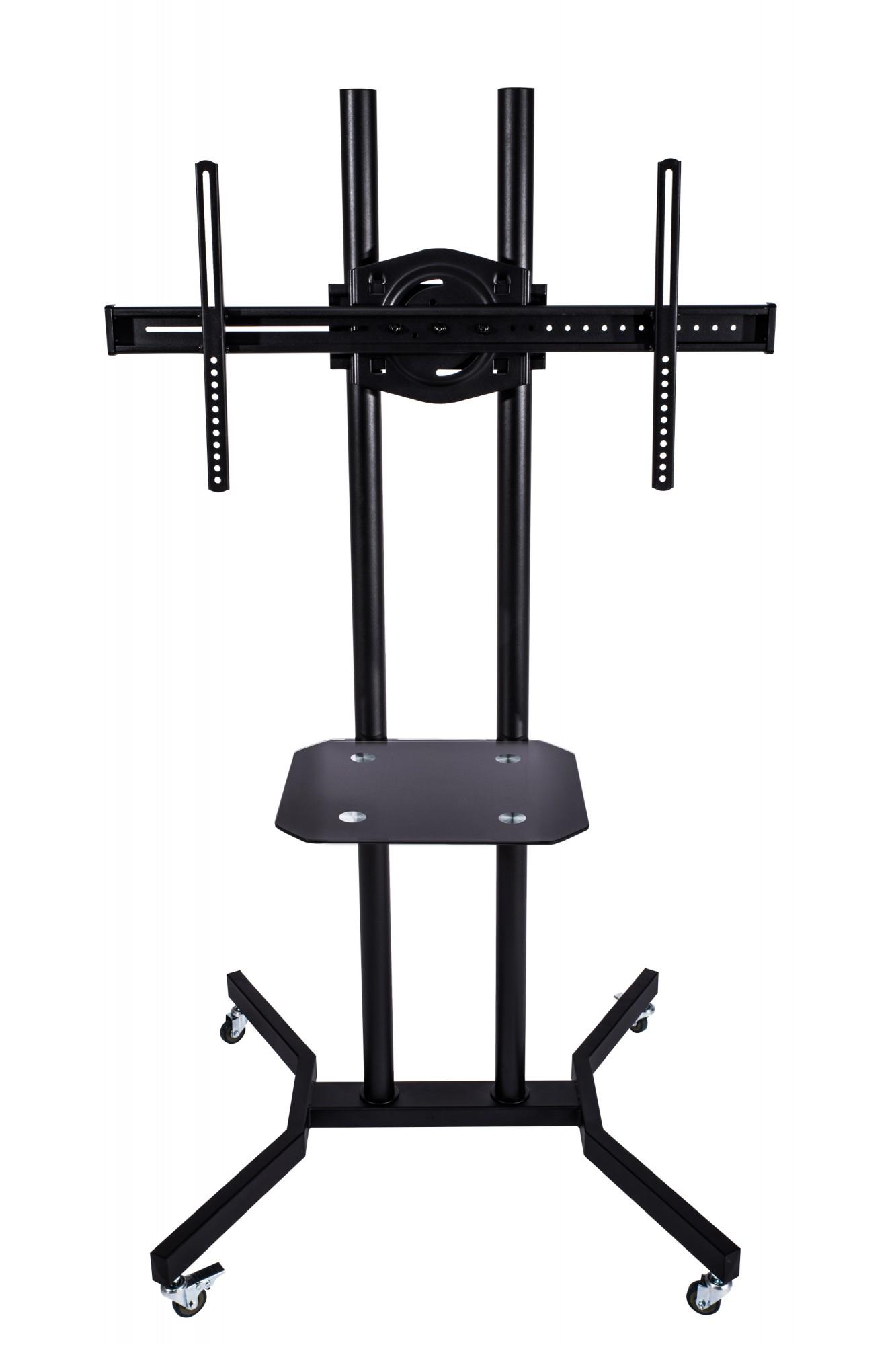 lcd led tv st nder standfu trolley rollen ablage 37 42 55 63 robust stabil ebay. Black Bedroom Furniture Sets. Home Design Ideas